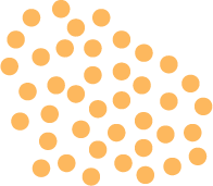 Uma série de pontos dourados
