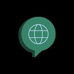 ícone de linguagem global