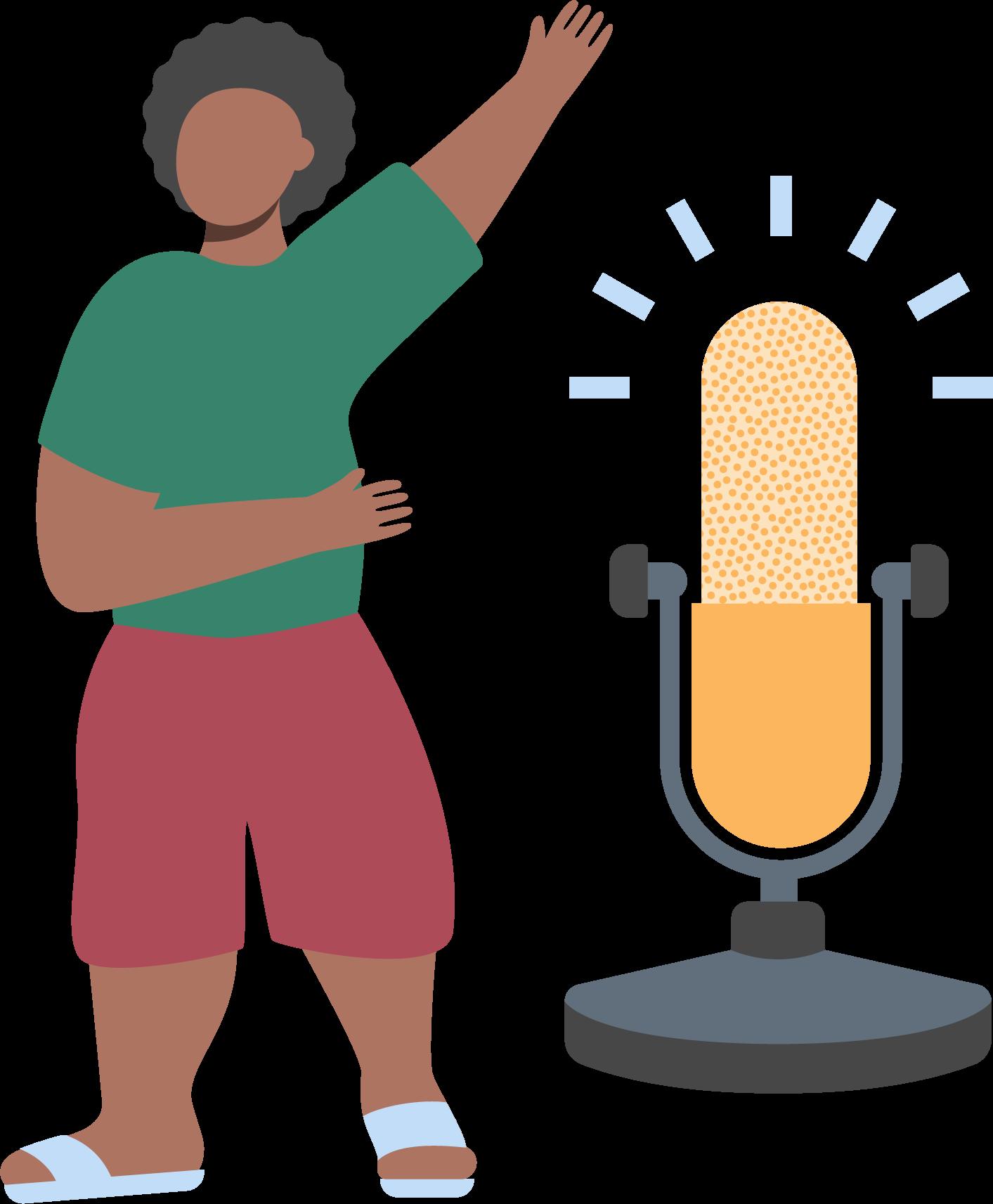 microphone person icon