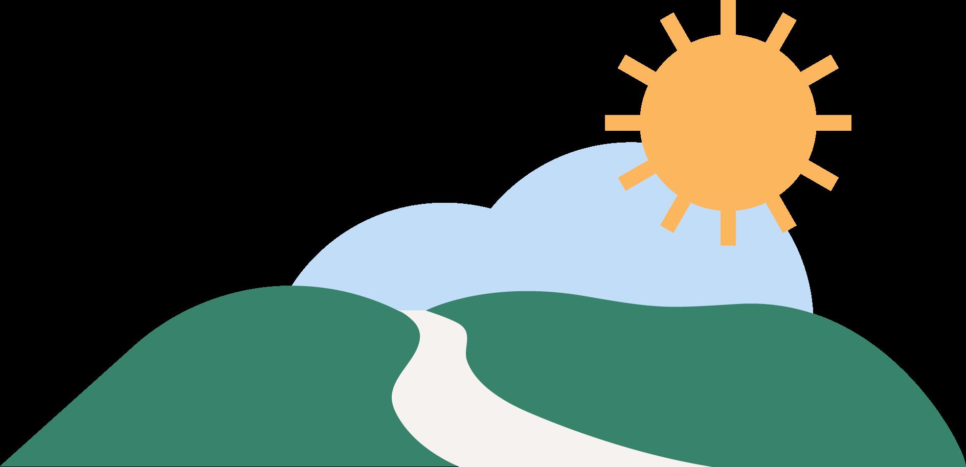 river-sun icon