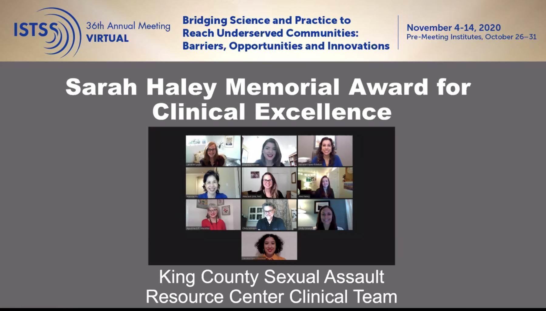 ISTSS Sarah Haley Award
