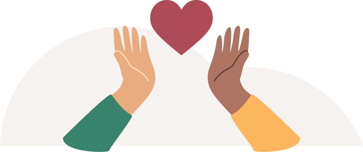 hands heart support icon