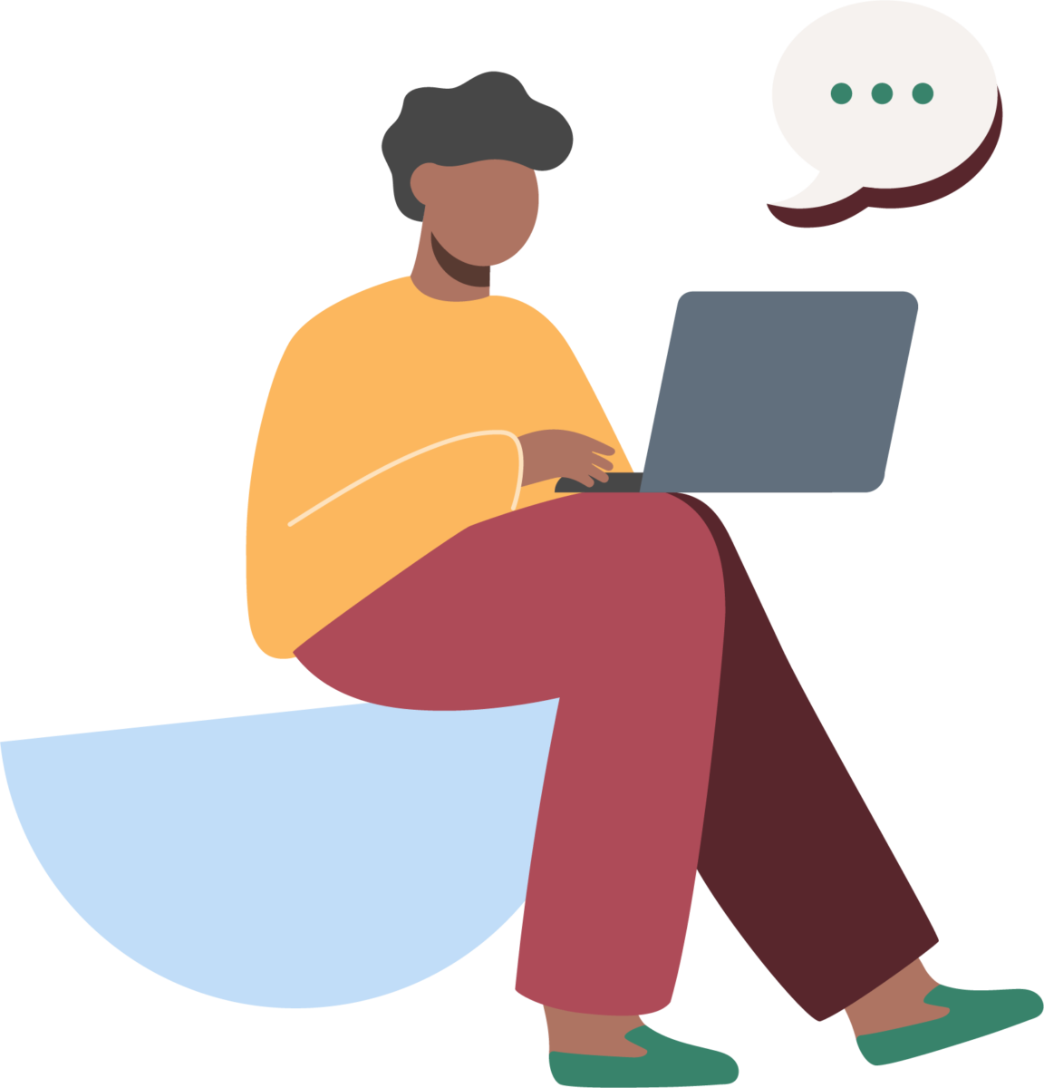 chatting online icon